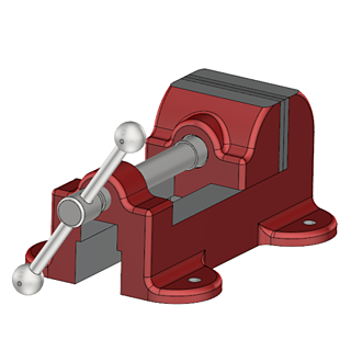 Inventor Exporting Parts & Assemblies -Vise-1